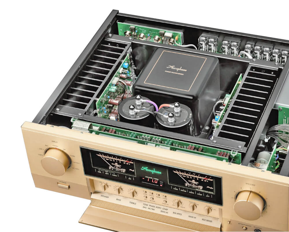 Chi tiết amply Accuphase E-380